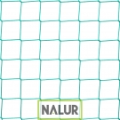 Siatka na kotary grodzące Dostępna w czterech kolorach siatka PP na kotarę grodzącą – produkowana na wymiar, o wymiarach oczek 10x10 cm oraz grubości sznurka 3 mm. Wykonana w technice bezwęzłowej. Sprawdzona do oddzielania pół gry w obiektach, między innymi do gry w piłkę nożną, koszykówkę, siatkówkę.